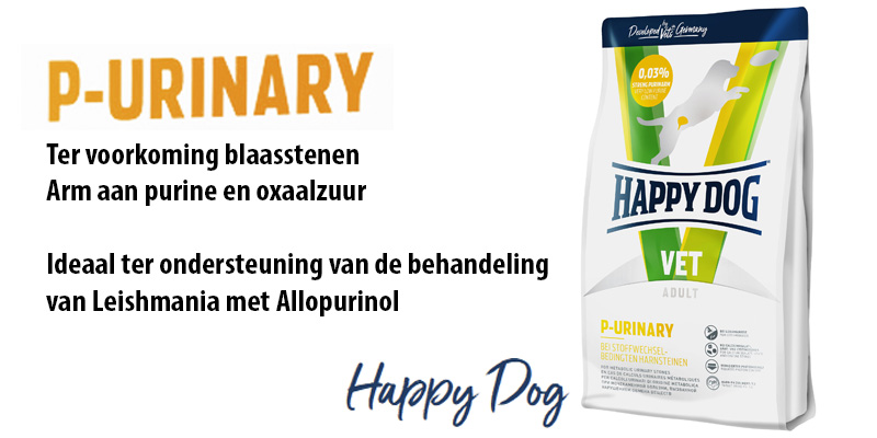 Happy Dog blaassteen hond