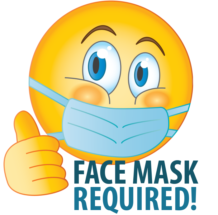 Emoji Face Mask Required thumbs up