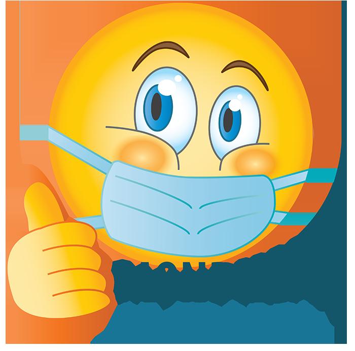 Emoji Mondkapje Ja Graag Duim Omhoog